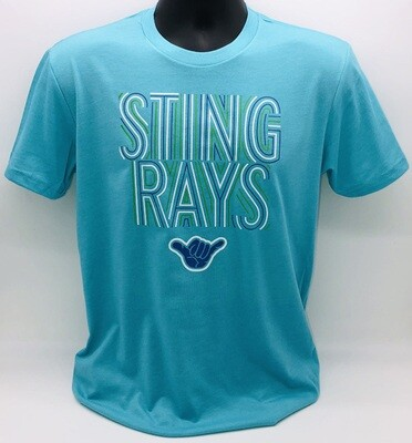 Stingrays Aqua SS T-shirt