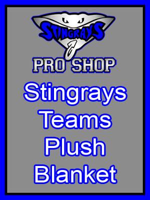 Stingrays Teams Plush Blanket 50