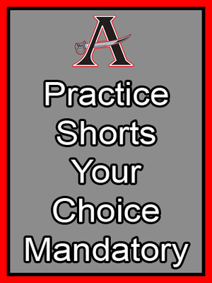 Practice Shorts Mandatory (Choice of Compression or Running)