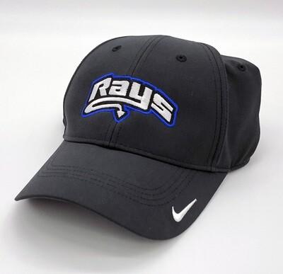 Rays Black Nike Baseball Hat