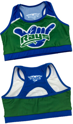 Blue and Green Rays Sports Bra
