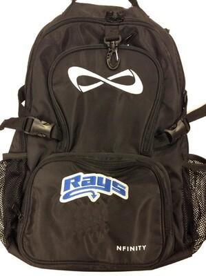 Black Nfinity Backpack w/Rays Logo