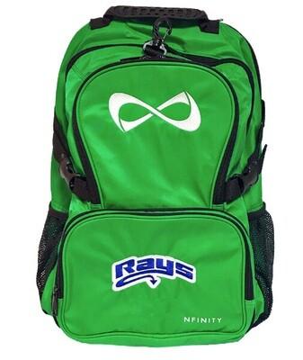 Green Nfinity Backpack w/Rays Logo