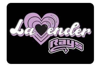 Lavender Team Hair Bows