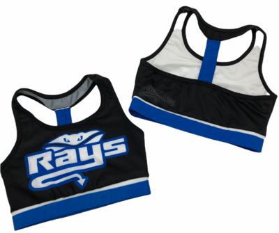 Black and Blue Rays Sports Bra