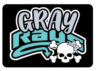 Gray Team Hair Bows