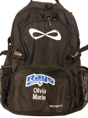 Black Backpack w/Rays Logo