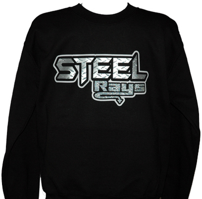 Steel Rays Black Sweatshirt Glitter
