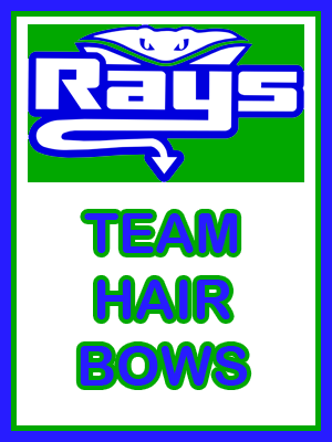 Green Team Hair Bows