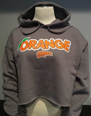 Orange Rays Cropped Hoodie
