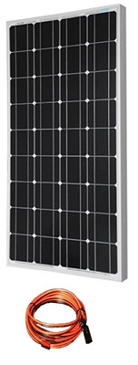 100W Monocrystalline Solar Panel with Cable