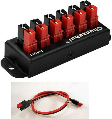 Anderson PowerPole 45 amp 6-way splitter