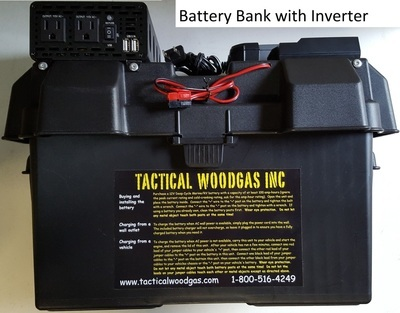 Battery Bank with 800W AC Inverter, plus solar/wall/car charging ports