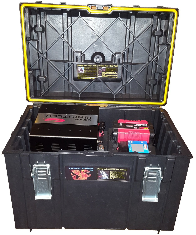 Emergency Responder 1200W Battery Bank with Solar/AC/Car Charging