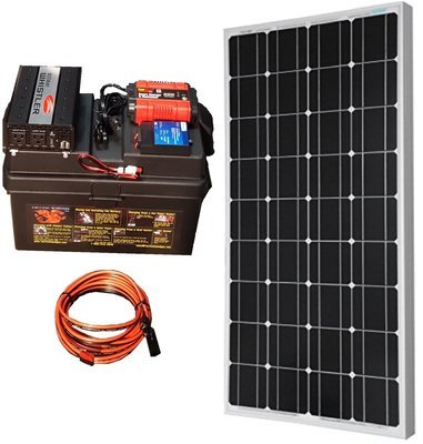 800W Battery Bank PLUS 100W solar panel & connecting cable