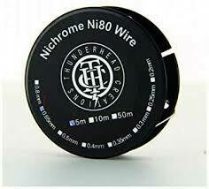 Nichrome 80 Wire 22ga 0.65mm Bobine 5m