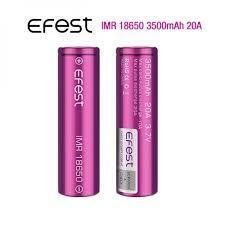 Accu Efest IMR18650 - 3500mah (20A) - 2pz.