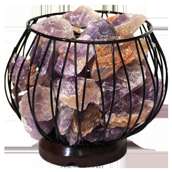 Amethyst Crystal Gemstones Lamp