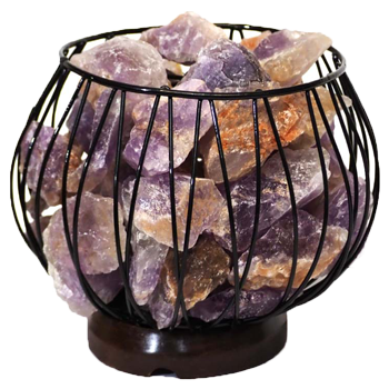 Amethyst Crystal Gemstones Lamp