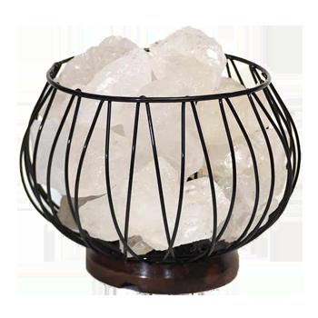 Clear Quartz Crystal Gemstones Lamp