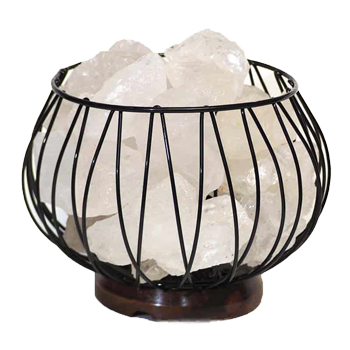 Clear Quartz Crystal Gemstones Lamp