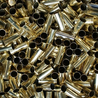 ONCE FIRED 50 AE RANGE BRASS - 50pcs