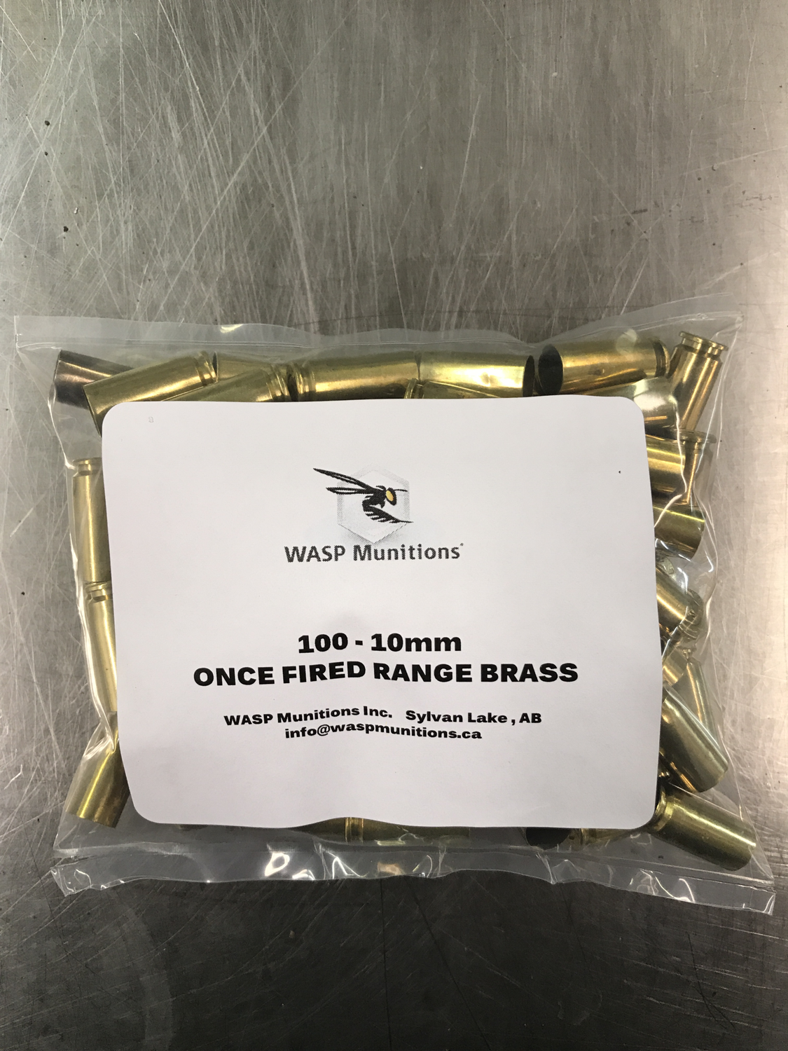 ONCE FIRED 10mm RANGE BRASS - 100