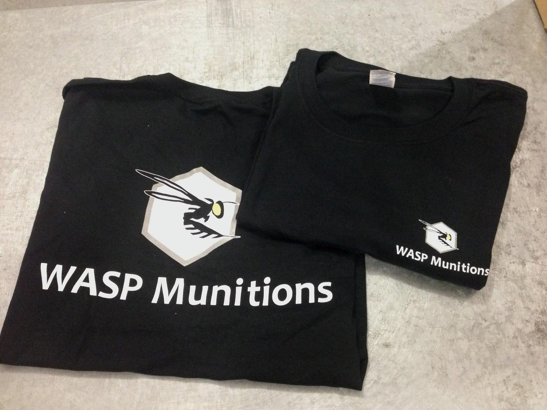WASP Munitions BLACK COTTON T-SHIRTS Large