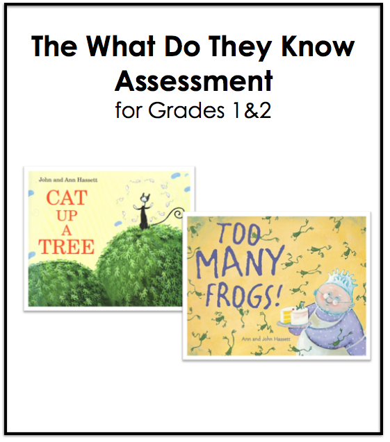 What Do They Know Assessment for 1&2