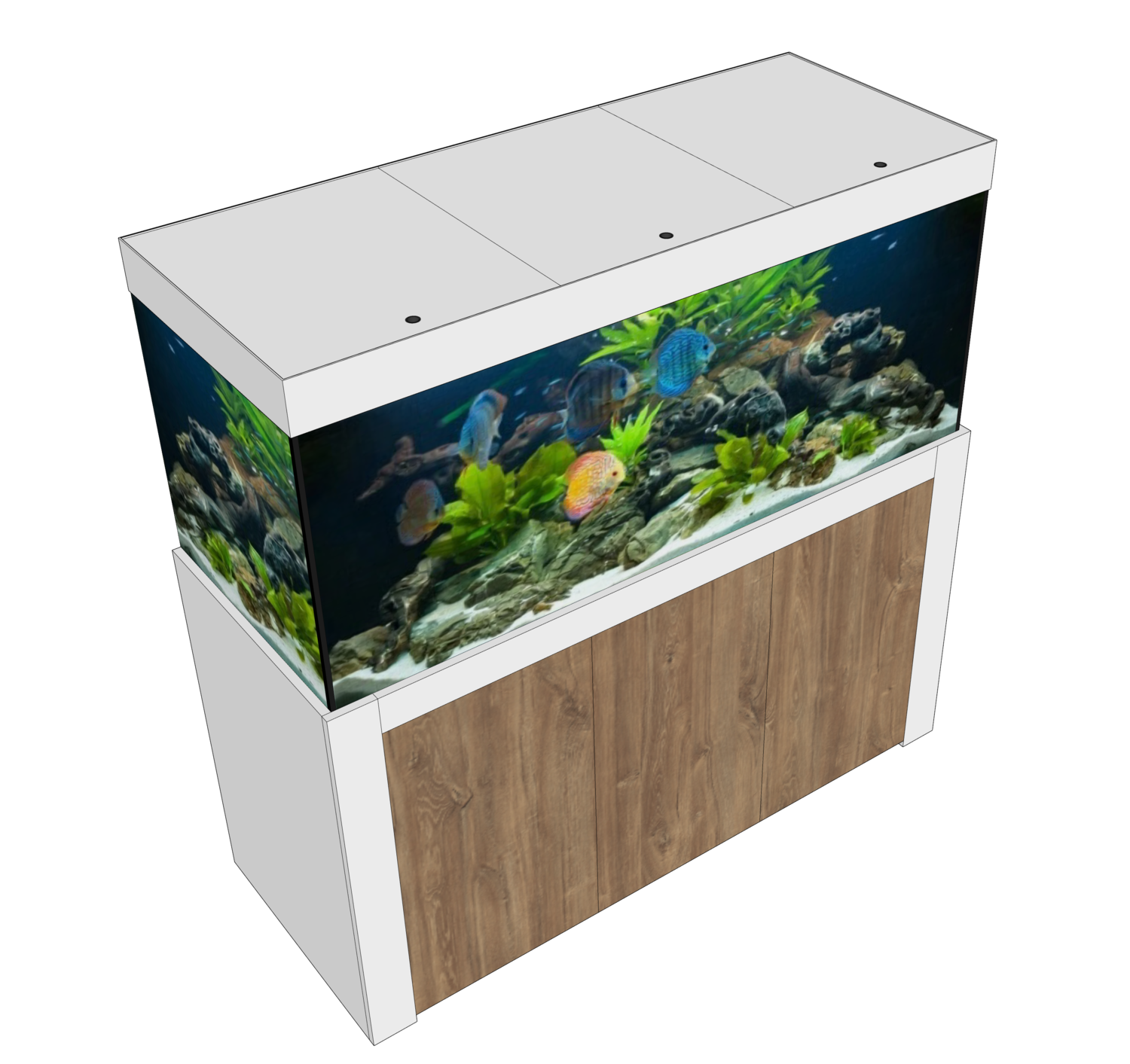 Aqualife FELIX 220x60x70/150 cm (aquarium + meubel)