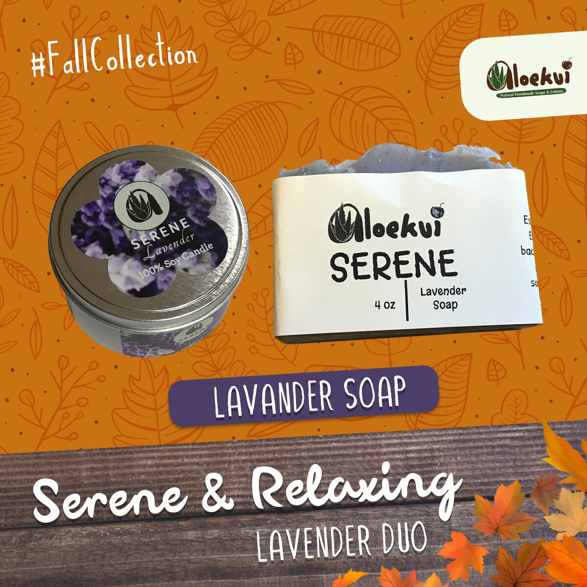Serene  & Relaxing Soap and Candle Duo