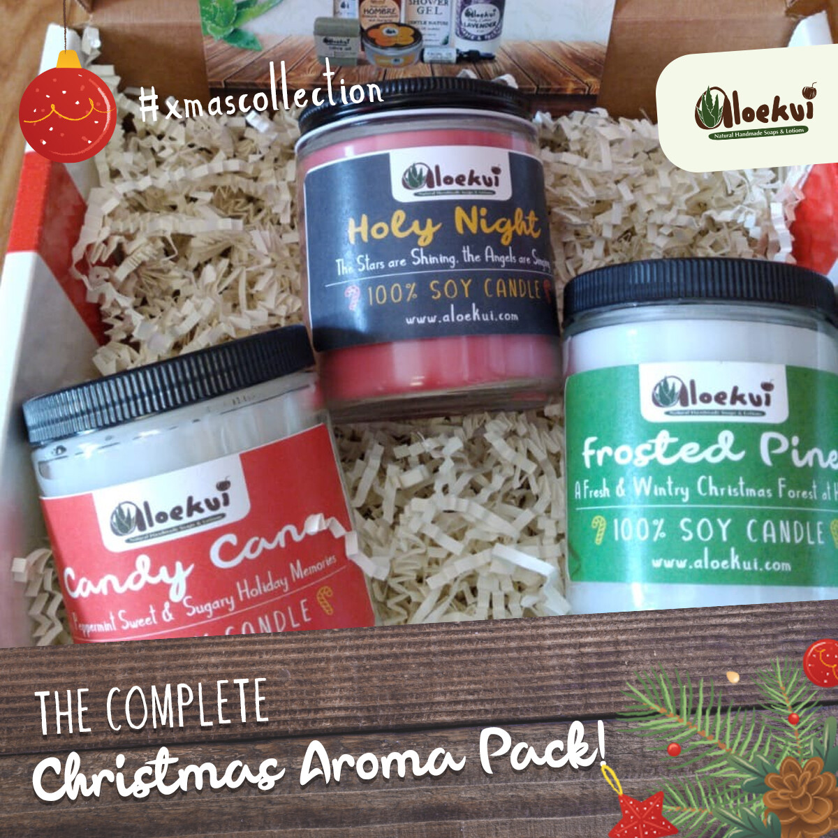 The Aroma of Christmas Candles in a Box