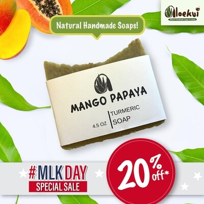 Aloekui  Vibrant Mango Papaya Soap