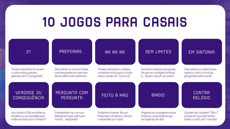 PDF - 10 JOGOS VIRTUAIS (ou não) PARA CASAIS