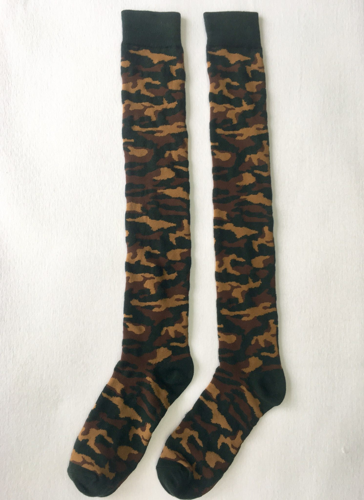 """Camouflage Knee High Socks - 20"""" Inches High VERY LIMITED QUANTITY!!!! CamoKH001"""