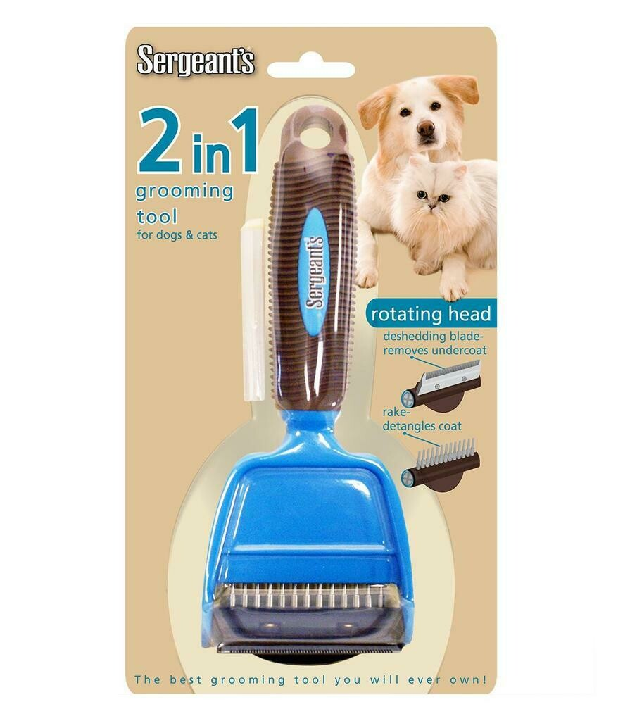 Sergeant's 2in1 Grooming Deshedding Brush