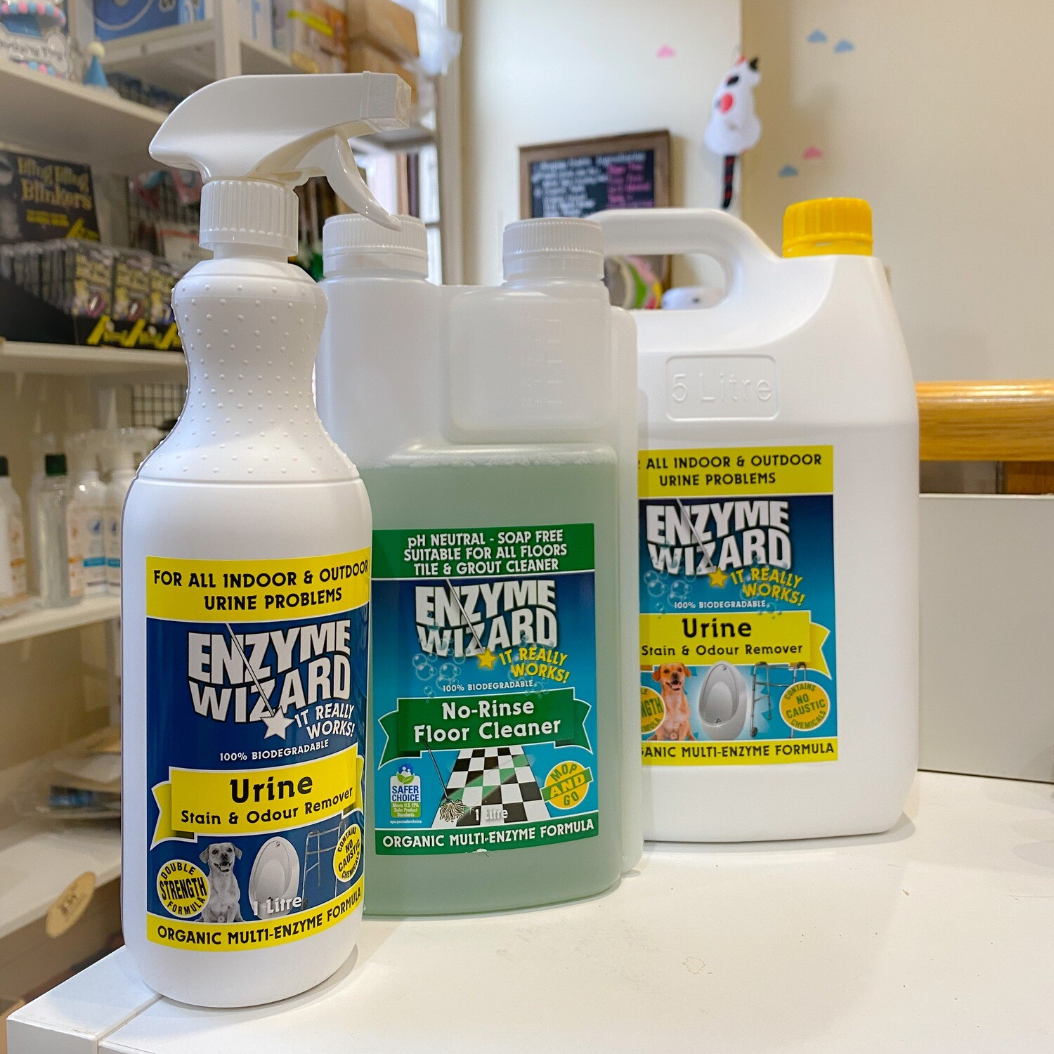 Enzymatic Urine Cleanser 1L | Carpet & Upholstery & Hard Surface | Work Like Magic for New and Old Urine Stain | Safe For Pets