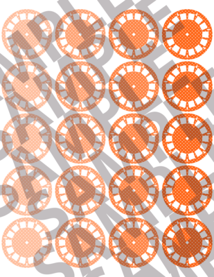 Bright Orange - Polka Dotted Viewfinders