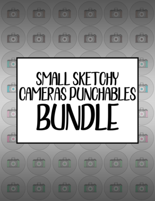 Bundle #36 Small Sketchy Cameras Punchables