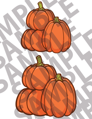 Large Stacked Pumpkins