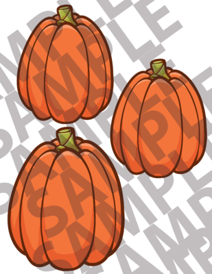Large Tall Pumpkins