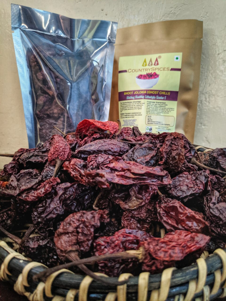 CountrySpices Bhoot Jolokia / Ghost Chilli Dried