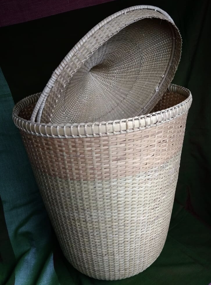 Handmade Bamboo Laundry Basket