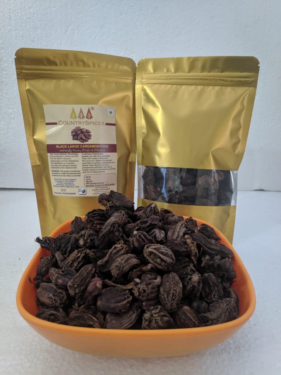 CountrySpices Black Large Cardamom Pods