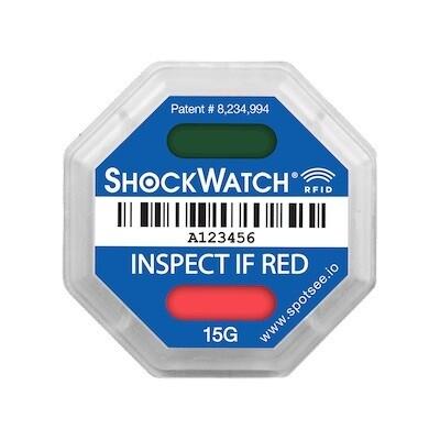 SpotSee ShockWatch RFID Tag - 5G, Box of 100