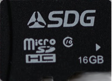SDG Systems microSD 16GB class 10, with full-size adapter