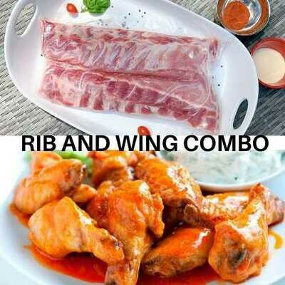 Back Rib and Marinated Chicken Wing Combo