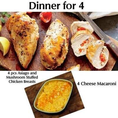 Dinner for 4 - Fall 2021 Special