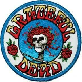 Grateful Dead Rose Skull Patch
