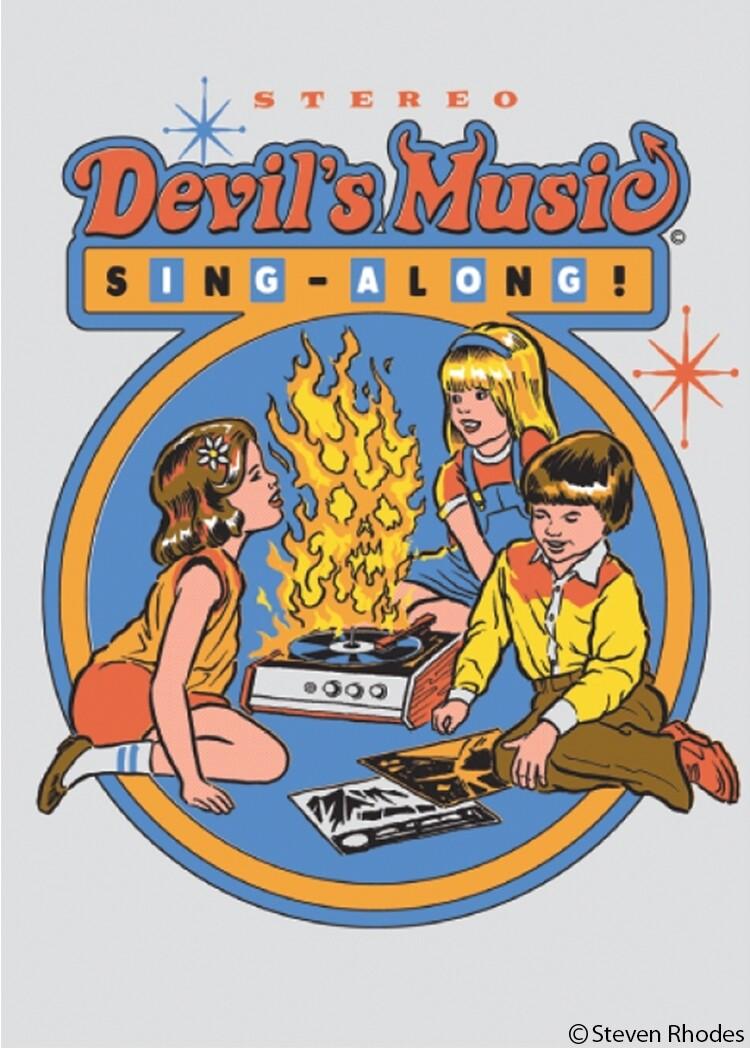 Devil's Music Sing Along Magnet